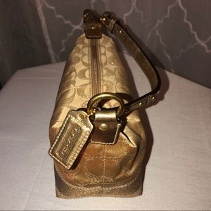 Rare Coach Metallic Op-Art Lurex Signature Minibag